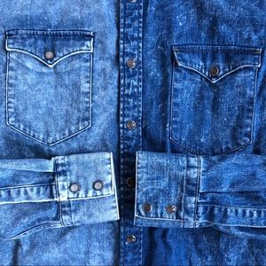 Other - Hand-Made Western Denim Shirt